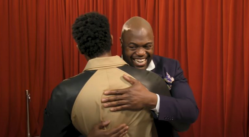Emotional moment as Ghanaian meets Chadwick Boseman for the first time (WATCH)