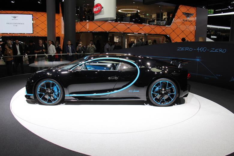 Bugatti Chiron na salonie we Frankfurcie
