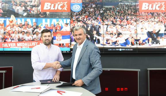Posle potpisivanja ugovora - Mihailović i Đurković