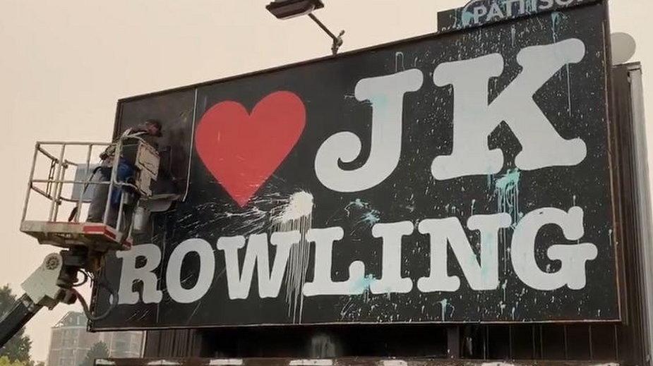 Transfobiczny Billboard w Vancouver