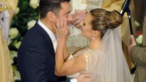 Pierwszy pocałunek Oli i Kuby po ślubie