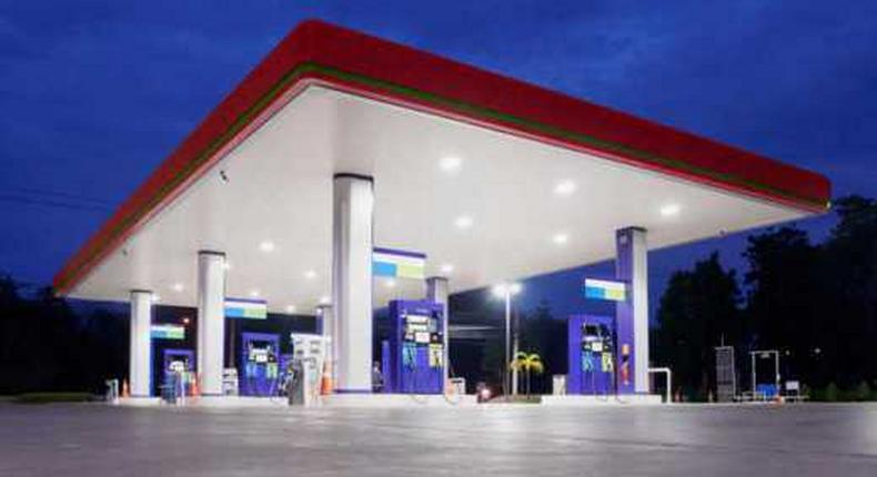A fuel station