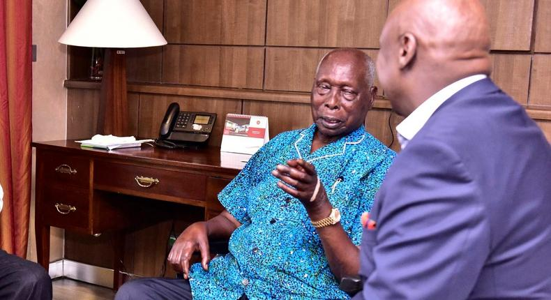 Ex-President Mzee Daniel Arap Moi re-admitted at Nairobi Hospital with breathing problems
