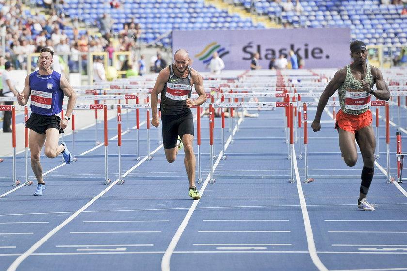 Artur Noga (w środku) to rekordzista Polski na 110 m przez płotki