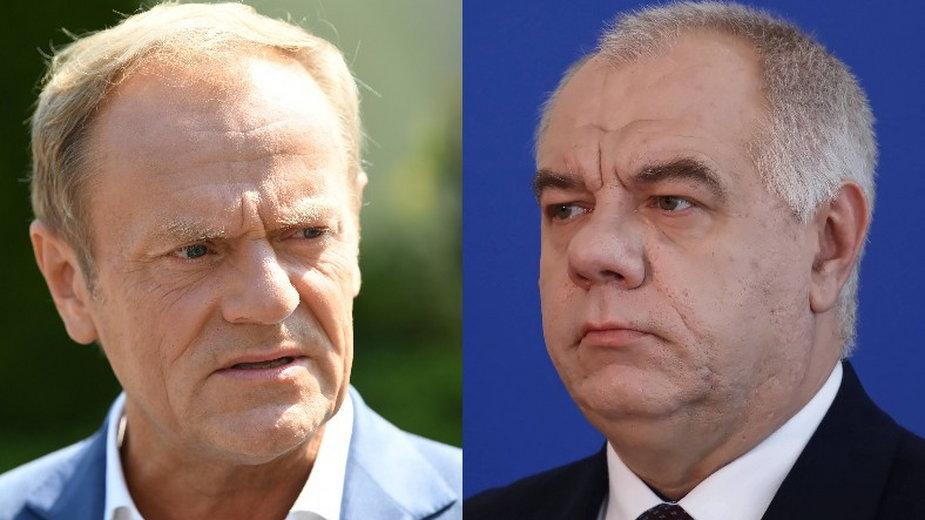 Donald Tusk oraz Jacek Sasin