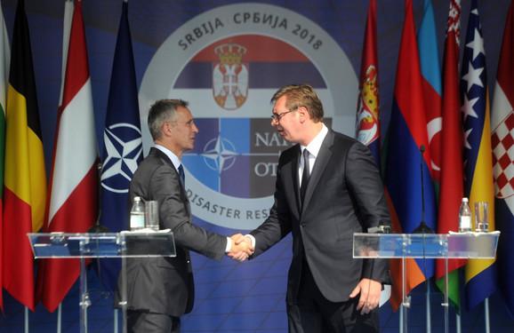 Vučić i Stoltenberg danas u Mladenovcu
