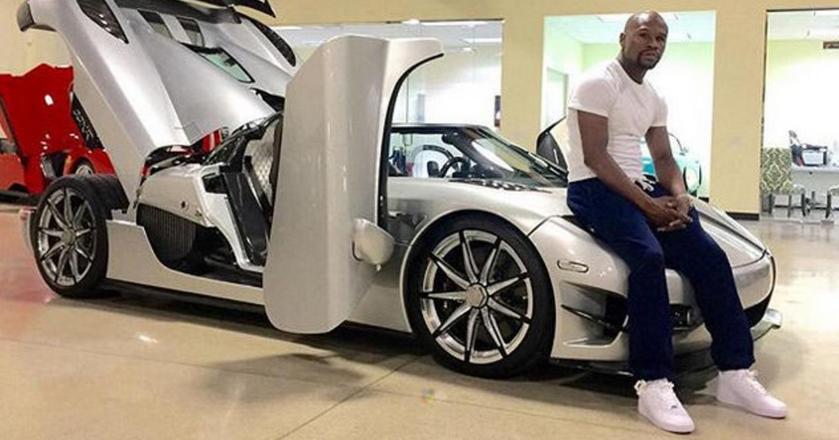 Floyd Mayweather i jego samochód za 4.8 miliona dolarów