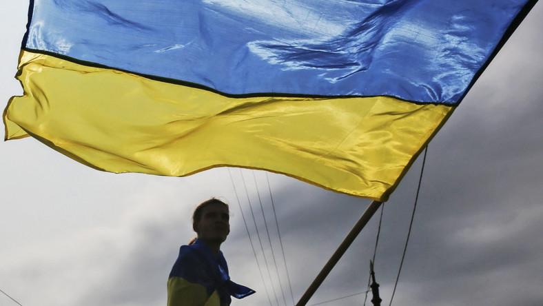 Zwolennik integralności Ukrainy w Charkowie