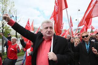 Protest Ruchu Sprawiedliwości Społecznej. Ikonowicz przeciwko niewypłacaniu pracownikom wynagrodzeń