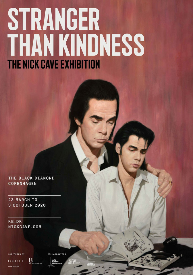"""The Nick Cave Exhibition - Stranger Than Kindness"". Plakat wystawy"