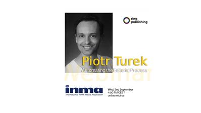 Piotr Turek about AI at International News Media Association Webinar