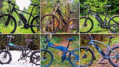 Vergleichstest: Top-6 E-Mountainbikes unter 1100 Euro
