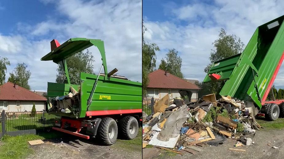 """Pan Michał """"zwrócił śmieci"""" człowiekowi, który rozsypał mu je pod domem"""