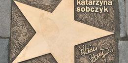 Odsłonięto gwiazdę Katarzyny Sobczyk