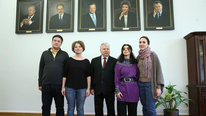 Spotkanie Borusewicza z rosyjską młodzieżą