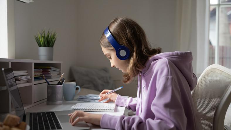 Edukacja domowa. Zdalne nauczanie. E-learning