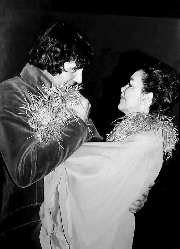 Džudi Garland i njen peti suprug Miki Dins 1969, tri meseca pre njene smrti