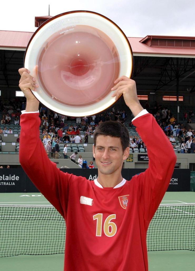 Novak Đoković nakon osvajanja turnira u Adelejdu 2007 godine