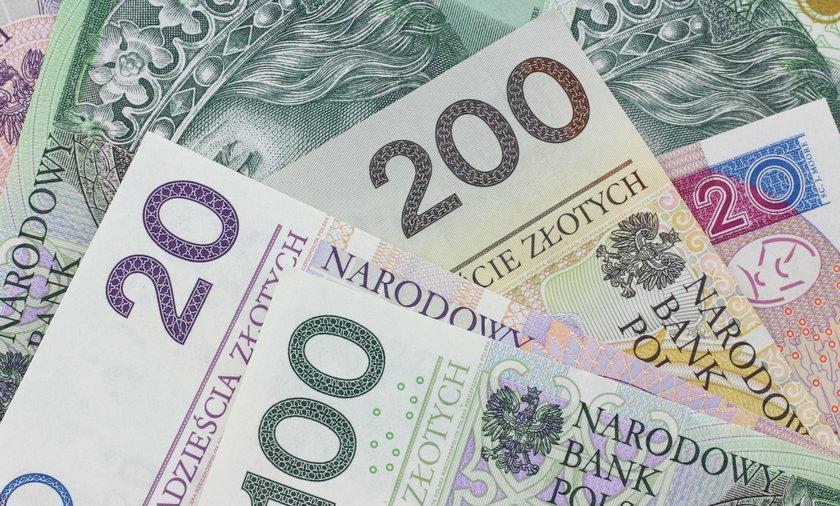 Polskie banknoty.