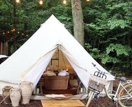 Le camping dans un hôtel de luxe