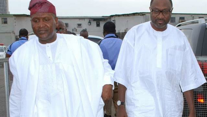 Africa's richest man, Aliko Dangote and Femi Otedola