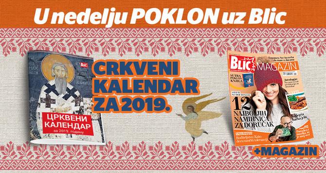 """Sutra uz """"Blic"""" dobijate crkveni kalendar"""