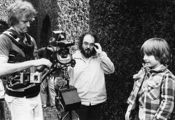 """Stanley Kubrick na planie filmu """"Lśnienie"""""""