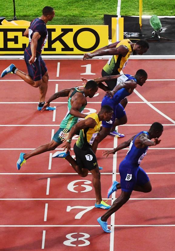 Finiš finalne trke na 100 metara u Londonu
