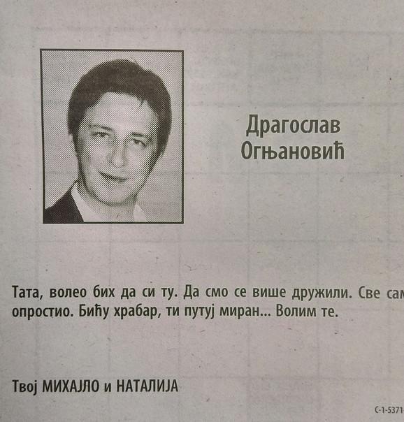 Čitulja ubijenom advokatu