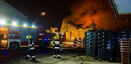 Pożar hali magazynowej. Spłonęła Jump Arena
