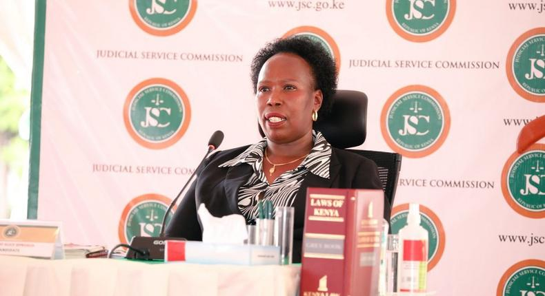 Lawyer Alice Yano who interviewed for Chief Justice of Kenya position