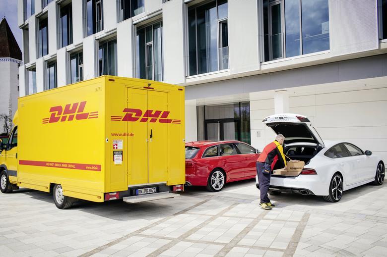 Testy dostaw do bagażnika: Audi, Amazon i DHL