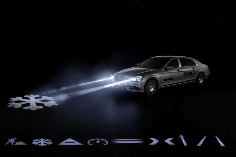 Mercedes Digital Light - w pierwszej produkcyjnej serii będą podstawowe ostrzeżenia dla kierowcy