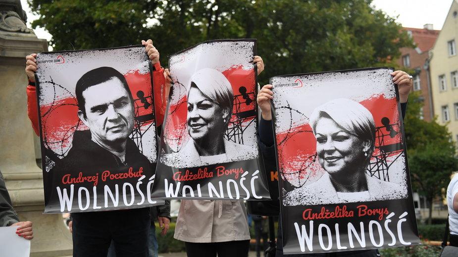 Uczestnicy manifestacji. Gdańsk, 31.08.2021 r.