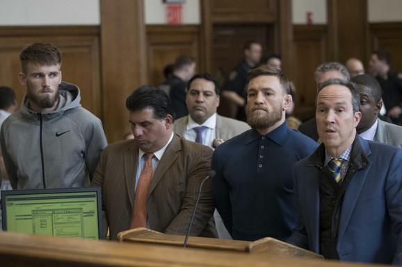 Konor Mekgregor na suđenju posle incidenta u Bruklinu