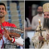CELA SRBIJA DELI OVU FOTOGRAFIJU! Evo šta je patrijarh Porfirije radio dok je Novak Đoković igrao finale Rolan Garosa!