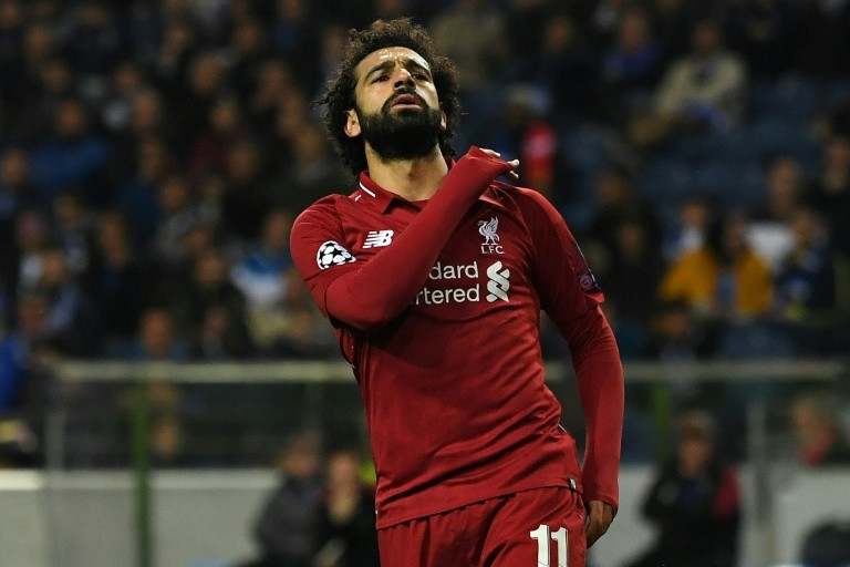 Mohamed Salah, Liverpool striker celebrating a gioal