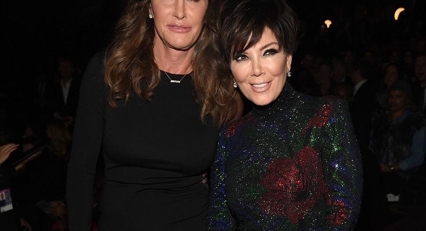 Caitlyn and Kris Jenner support Kendall at VS Fashion Show