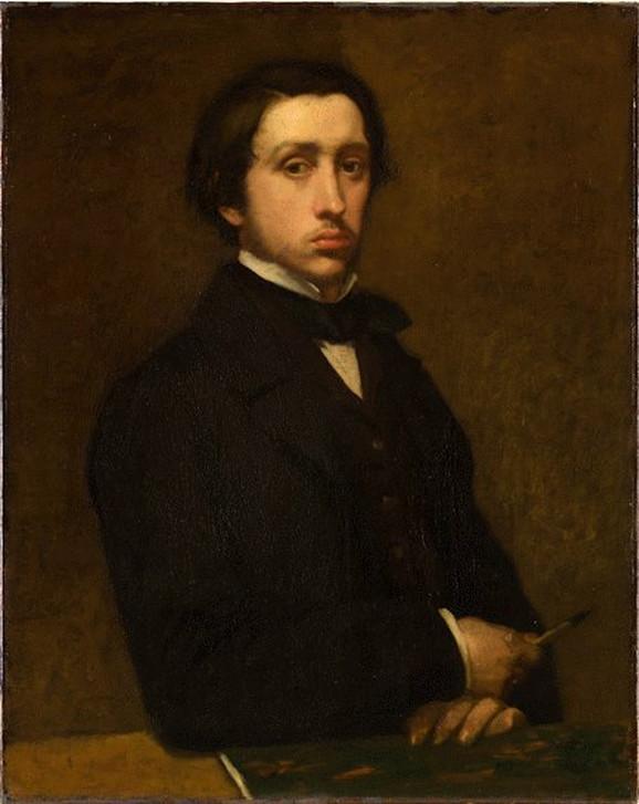 Edgar Dega, Autoportret, 1855, Muzej Orsej, Pariz