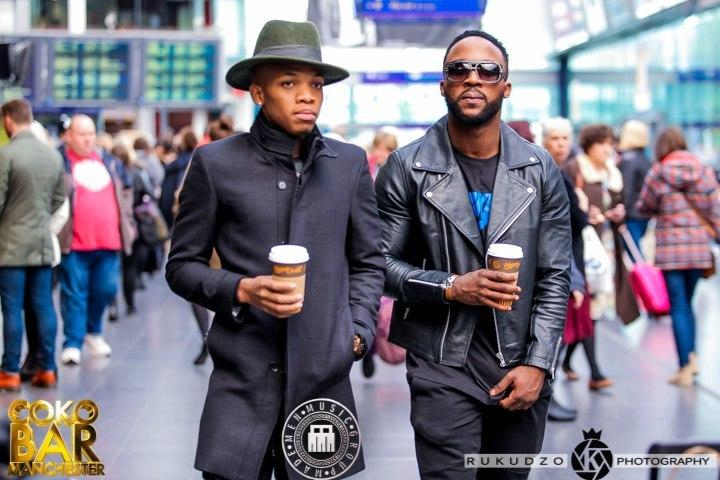 Iyanya and Tekno during their days at Triple MG. [Triple MG]
