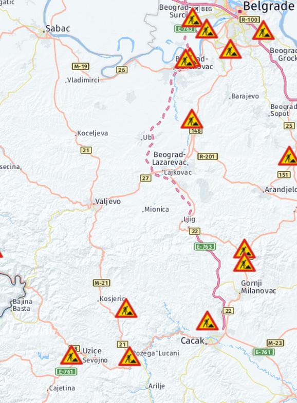 Radovi na putnom pravcu ka Crnoj Gori