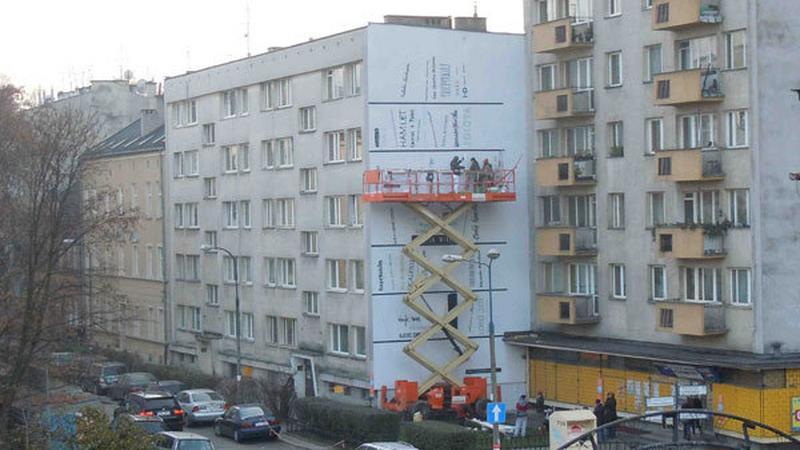 Mural na budynku przy ul. Traugutta