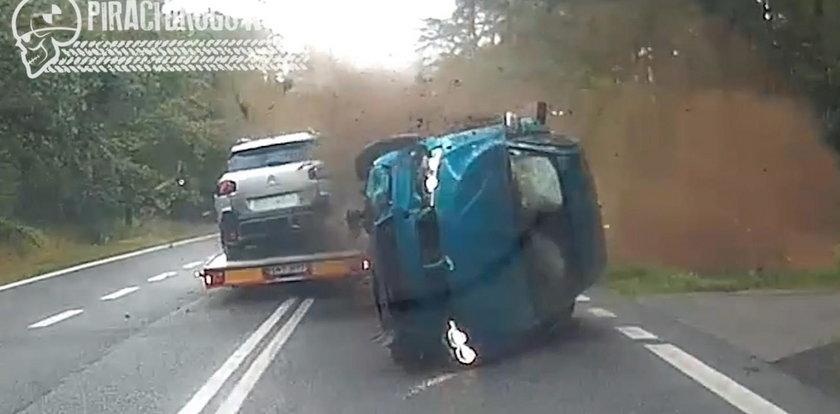 Szokujące nagranie chwili wypadku. 23-latek może mówić o wielkim szczęściu
