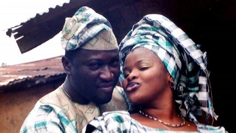 "Femi Branch and Dayo Amusa in "" Oju Awo"" in 1997."