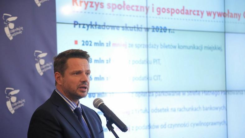 Konferencja Rafała Trzaskowskiego