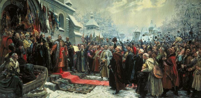 """""""Rada perejasławska"""", obraz pędzla Mychajla Chmielki"""