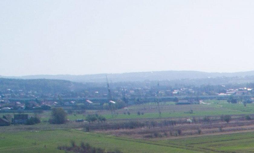 Teren Campusu Misericordiae w Brzegach pod Wieliczką