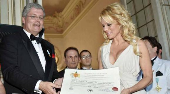 Stefan Černetić sa Pamelom Anderson