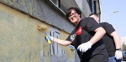 Kluzik-Rostowska pomalowała szkołę!