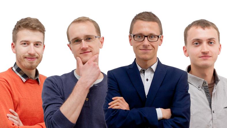 Założyciele startupu Airly (od lewej): Aleksander Konior, Michał Misiek, Wiktor Warchalowski, Michał Kiełtyka